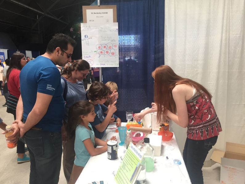 CLEAR's table with DIY DNA extractions at the North Bay Discovery Day event. Oct 28, 2017