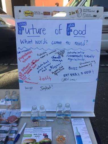 Community members of all ages added their ideas to what they think the future of food looked like.